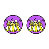 GiftJewelryShop Bronze Retro Style Religion Christian Church Choir Photo Flower Stud Earrings #14