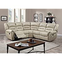 Glory Furniture G687B-SC Sectional Sofa, Beige, 3 boxes