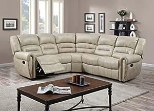 Glory Furniture G687B-SC Sectional Sofa, Beige, 3 boxes