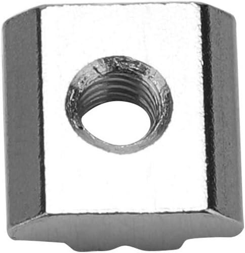 Tuercas de ranura en T deslizantes de acero al carbono 50 piezas for accesorios de perfil de aluminio de la serie 30 tama/ño : M6*16 * 6 Tuercas en T