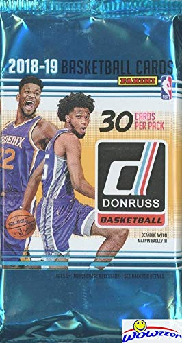 (2018/2019 Panini Donruss NBA Basketball HUGE Factory Sealed JUMBO HOBBY Pack with 30 Cards!Loaded PARALLELS & INSERTS! Look for RC & Autos of Luka Doncic, Deandre Ayton, Trae Young & More! WOWZZER!)