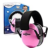Toennesen Safe n Sound Kids Ear Defenders Hearing Protectors Adjustable Headband Ear Muffs for Children and Adults (Pink)