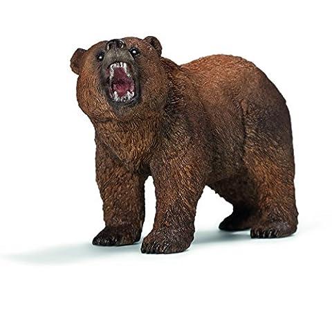 Schleich Grizzly Bear Toy (Dipinto A Mano Orso)