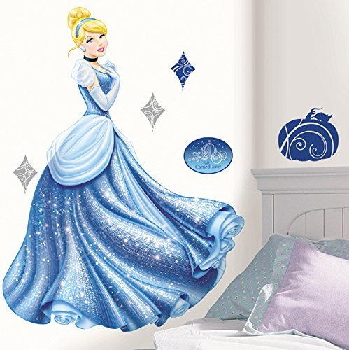 RoomMates Disney Princess - Cinderella Glamour Peel and Stick Giant Wall Decal