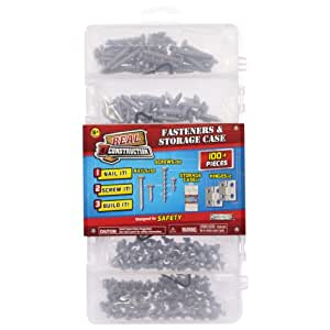 Real Construction Accessory Sets- Nails, Screws, Hinges, Case