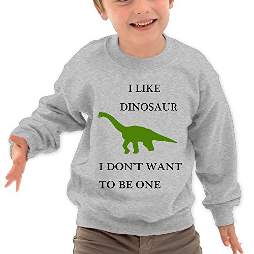 Price comparison product image Puppylol Make Me A Dinosaur Kids Classic Crew-neck Pullover Hoodie Ash 3 Toddler