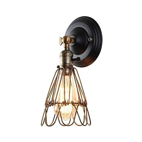Vintage Bird industrial jaula de metal Lampshade luces de la pared ...