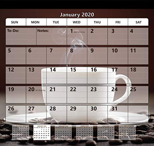 Magnetic Fridge Calendar 2019-2020 by StriveZen, Strong Magnets for Refrigerator, Monthly October 2019 -December 2020, 10x10 Inch, Academic, Desktop, Gift, Teacher Family Busy Mom Office
