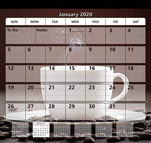Magnetic Fridge Calendar 2019-2020 by StriveZen, Strong Magnets for Refrigerator, Monthly October 2019 -December 2020, 10x10 Inch, Academic, Desktop, Gift, Teacher Family Busy Mom Office