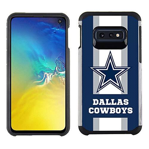 Samsung S10E - NFL Licensed Dallas Cowboys - Pebble Grain Striped Protective ()