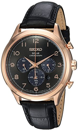 Seiko-Mens-Solar-Chronograph-Quartz-Stainless-Steel-and-Leather-Casual-Watch-ColorBlack-Model-SSC566