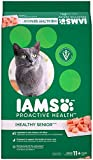 Iams PROACTIVE HEALTH Healthy Senior (11 Years Old and Older) Chicken Recipe Dry Cat Food, (1) 16 Pound Bag, Cat Food, Real Chicken in Every Bite