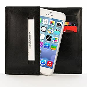"""Minisuit Luxury Genuine Leather Wallet Case for iPhone 6 4.7"""" (Giftbox + Dustbag)"""