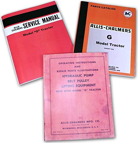 Set Allis Chalmers G Tractor Service Parts Owner Manual Technical Operator