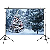 Allenjoy 7x5ft Winter Scenic Photography Backdrop Background Christmas Tree Forest Photo Studio Booth Booth Prop Newborn Baby Shower Kids