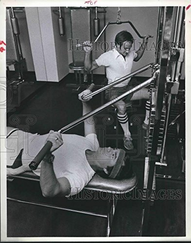 Vintage Photos 1978 Press Photo Bob LeBosse and Hank Hough at Prudential fitness ()