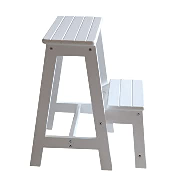 Attrayant Vogvigo 2 Tier Solid Wood Step Stool Two Staircase Folding Ladder Bench  Seat Kitchen Chair Furniture