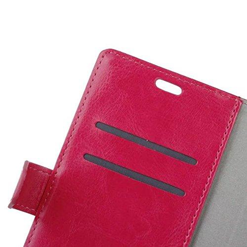 YAJIE-Carcasa Funda Para Xiaomi Hongmi Redmi 4 Prime, cristal de grano de cuero de la cartera de teléfono de la bolsa de la caja Retro Flip Stand Cover con ranuras de efectivo de tarjeta y función de  Rose