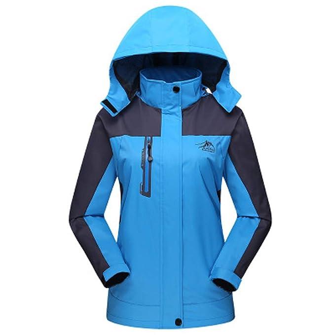 ZARLLE Chaqueta para Hombre Mujer para Deportes Esquí Invierno Abrigo Impermeable Chaqueta de Nieve a Prueba Viento - Rosa Caliente/Rojo/Azul/Púrpura/Verde: ...