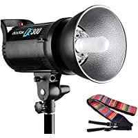 Godox DE300 300W Pro Monolight Strobe Flash Studio Lighting GN58 for Portrait Fashion Art Photo Product Photography with Andoer Camera Strap