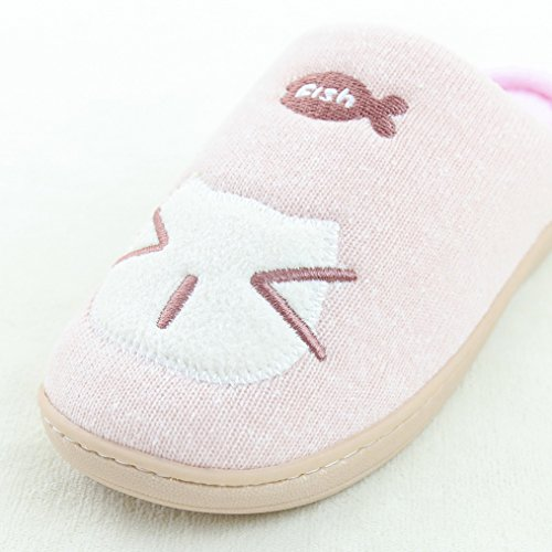 7659c4af1 Blubi Women s Cat Face Cotton Comfort Cute Slippers Funny Slippers hot sale  2017