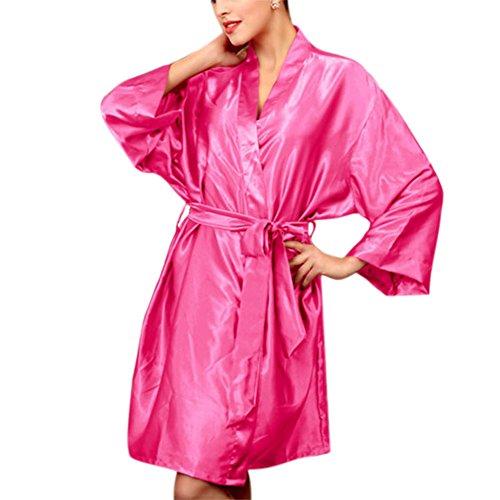 abiti pigiama da estate Rose Wildeal pigiama Black donna sexy accappatoi accappatoio lingerie imitato Red seta AdpxHIwqx