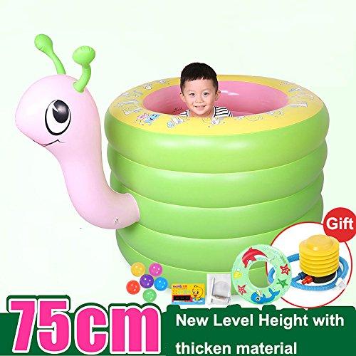 tlue tathtub portátil Cartoon hinchable bañera infantil de 0 ...