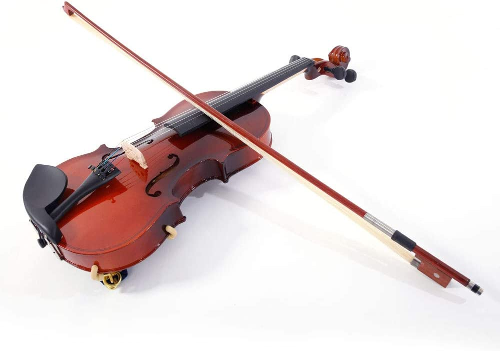 US Stock 2019 New 1//2 Size Violin Case Acoustic Violin Case Durable Natural Solid Wood Fiddle for Beginners and Students w//Case,Bow and Rosin Strings Tuner Shoulder Rest Coffee
