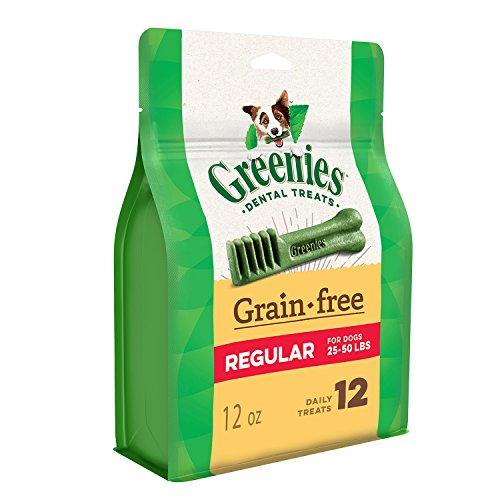 Greenies Grain Free Regular Size Dog Dental Chews 12