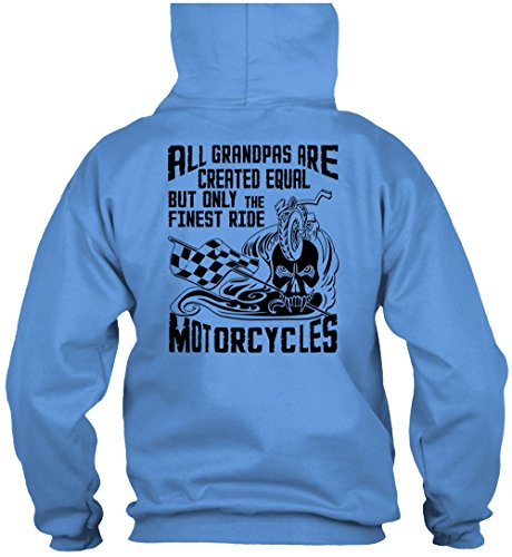 Only The Finest Ride Motorcycles T Shirt, I Love Biker T Shirt Hoodie (L,Light Blue)