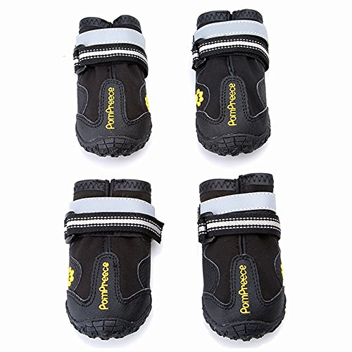 Maxshop 4 Pcs Waterproof Rugged Dog Shoes Pet Boots for Small Medium Large Dogs (8)
