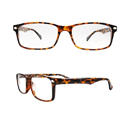 9f3d50c11b Amazon.com  Retro Horned Rim Retro Classic Nerd Glasses Clear Lens  (Rectangle Tortoise