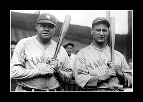 Ruth Framed Babe (8 x 10 All Wood Framed Photo Babe Ruth And Rookie Lou Gehrig)