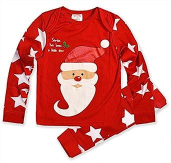 Babies Christmas Pyjamas Baby Boys Girls Santa Rudolph Sleepwear ...