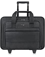 Save on Rolling Laptop Case, Poly, 16 x 6 1/2 x 15, Black