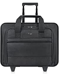 Carnegie 15.6 Inch Rolling Laptop Case, Black