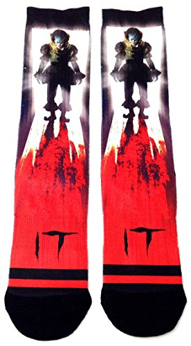Stephen Kings IT Pennywise The Clown Sublimated Crew Socks