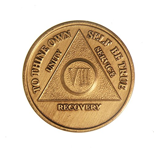 Year Bronze Alcoholics Anniversary Medallion