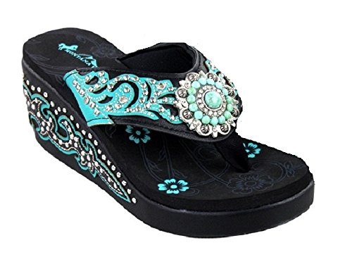 montana-west-turquoise-concho-3-wedge-flip-flop-black-7