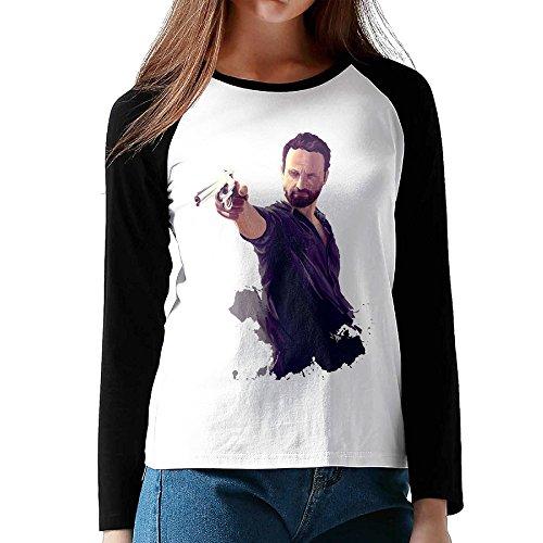 Walking Dead Costumes Lori (Rick Grimes Art Girl S Long Sleeve Raglan Pure Cotton T Shirt)