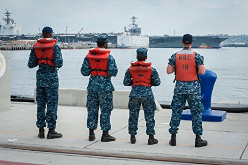 Laminated Poster Sailors assigned to The Aircraft Carrier USS Theodore Roosevelt (CVN 71) Prepare to Help Moore The Vivid Imagery Poster Print 24 x 36 ()