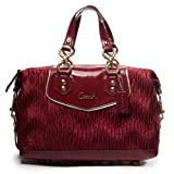 Coach Gathered Ashley Red/ Burgendy Bordeaux Satchel 20084, Bags Central