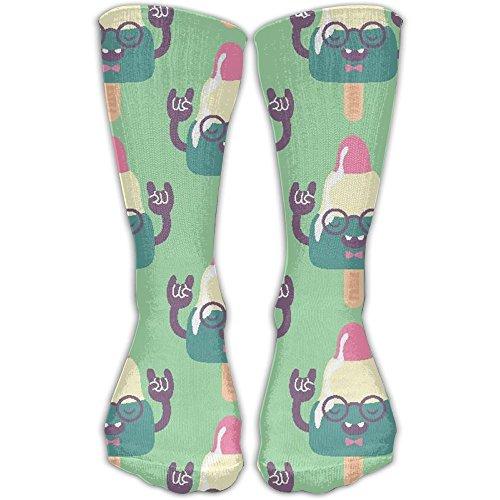 Strange Ice Cream Crew Socks Stockings Tube Socks Casual Cotton Crew Socks Diabetic Socks