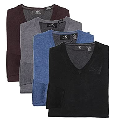 Calvin Klein Men's V-Neck Merino Wool Sweater
