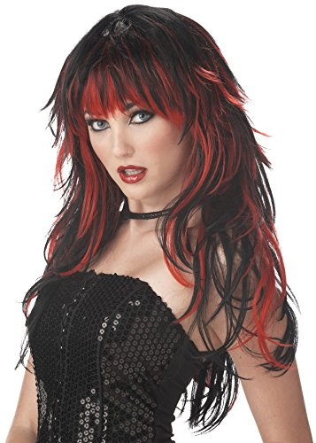 UHC Tempting Tresses Red & Black Vampire Wig Halloween Costume Accessory for $<!--$26.94-->