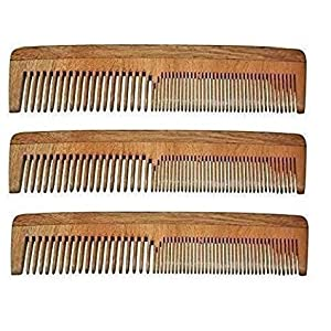 BOXO Wooden Comb For Women Hair Growth (Set of 3 Pcs) Neem Wood Comb For Hair Fall 15 gm Brown Pack of 1 (Neem Wood Comb…