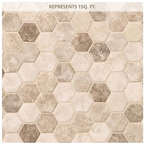 Sandhills Hexagon 12 in. x 12 in. x 6 mm Recycled Glass Mesh-Mounted Mosaic Tile (2