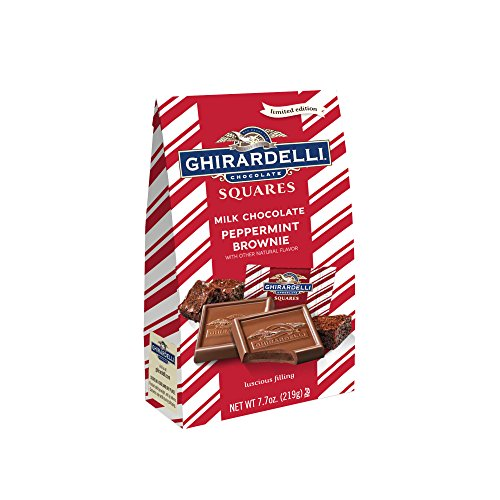 Peppermint Brownie - Ghirardelli Peppermint Bark Brownie Squares Bag, 7.7 Ounce (Pack of 12)