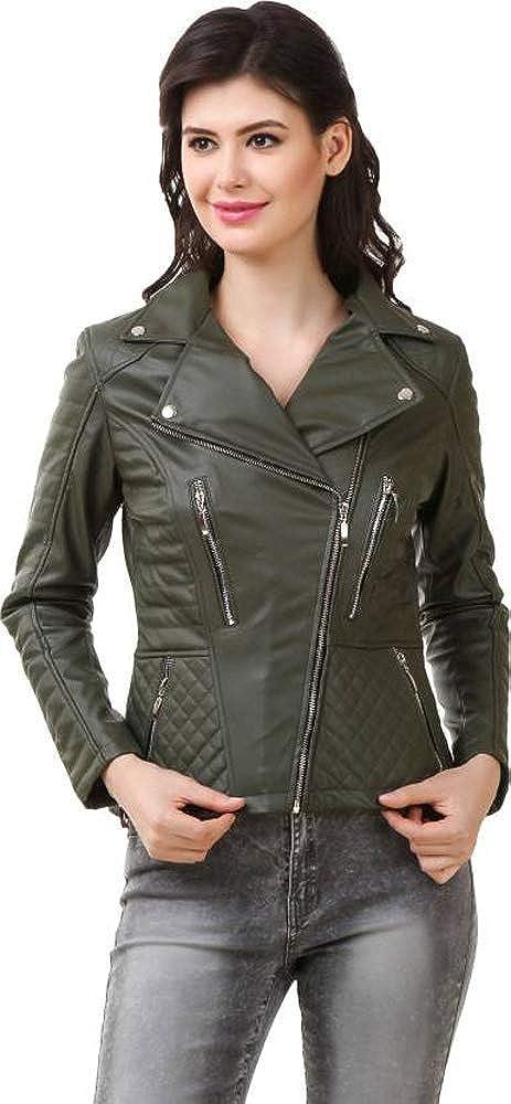 Reseda Green Trailblazerzz Womens Leather Jackets Motorcycle
