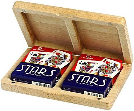 Juego Quercia - Estuche de cartas de madera I Juego de cartas poker - Leño , color/modelo surtido: Amazon.es: Juguetes y juegos